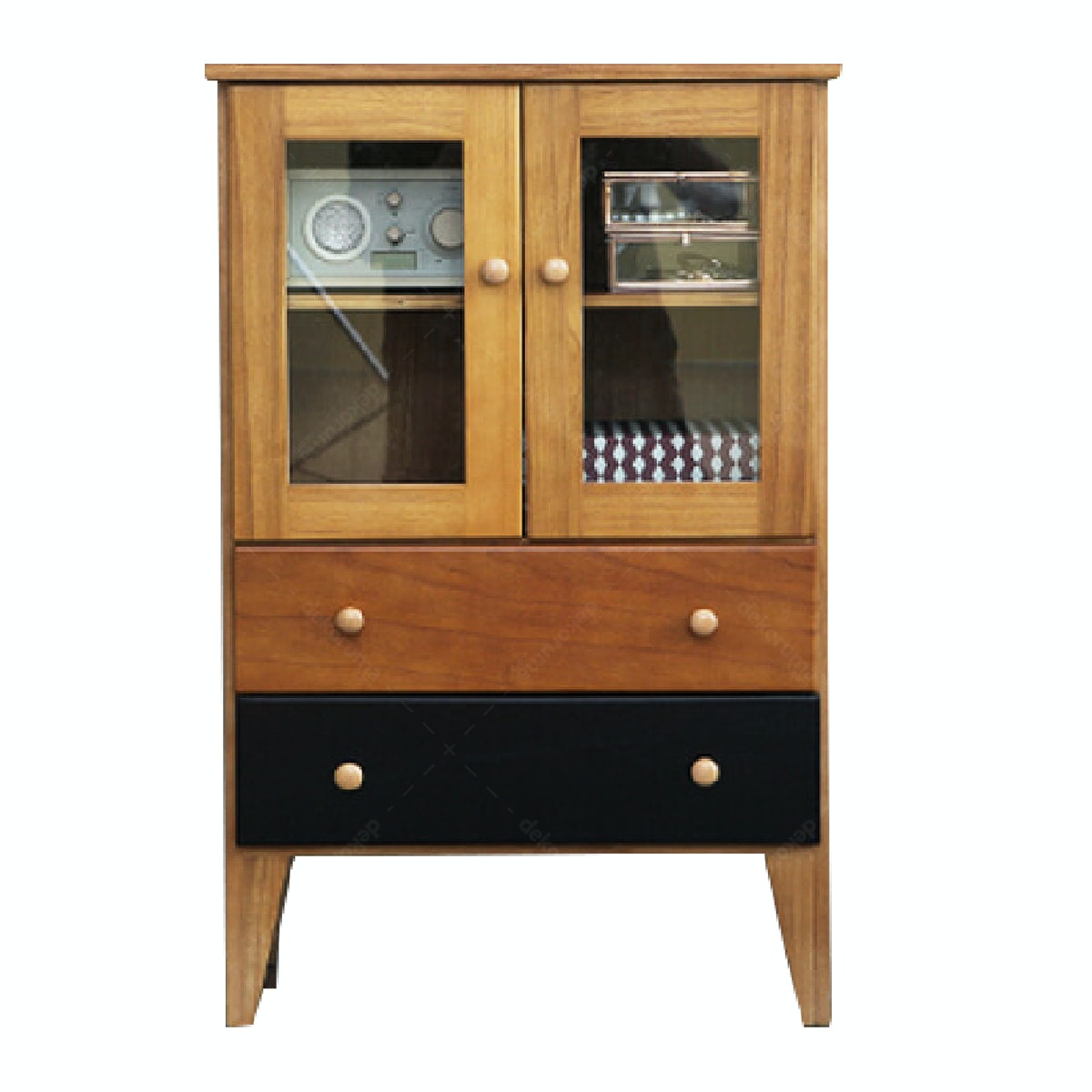 Olive House Hauteville Glass Cabinet Choco