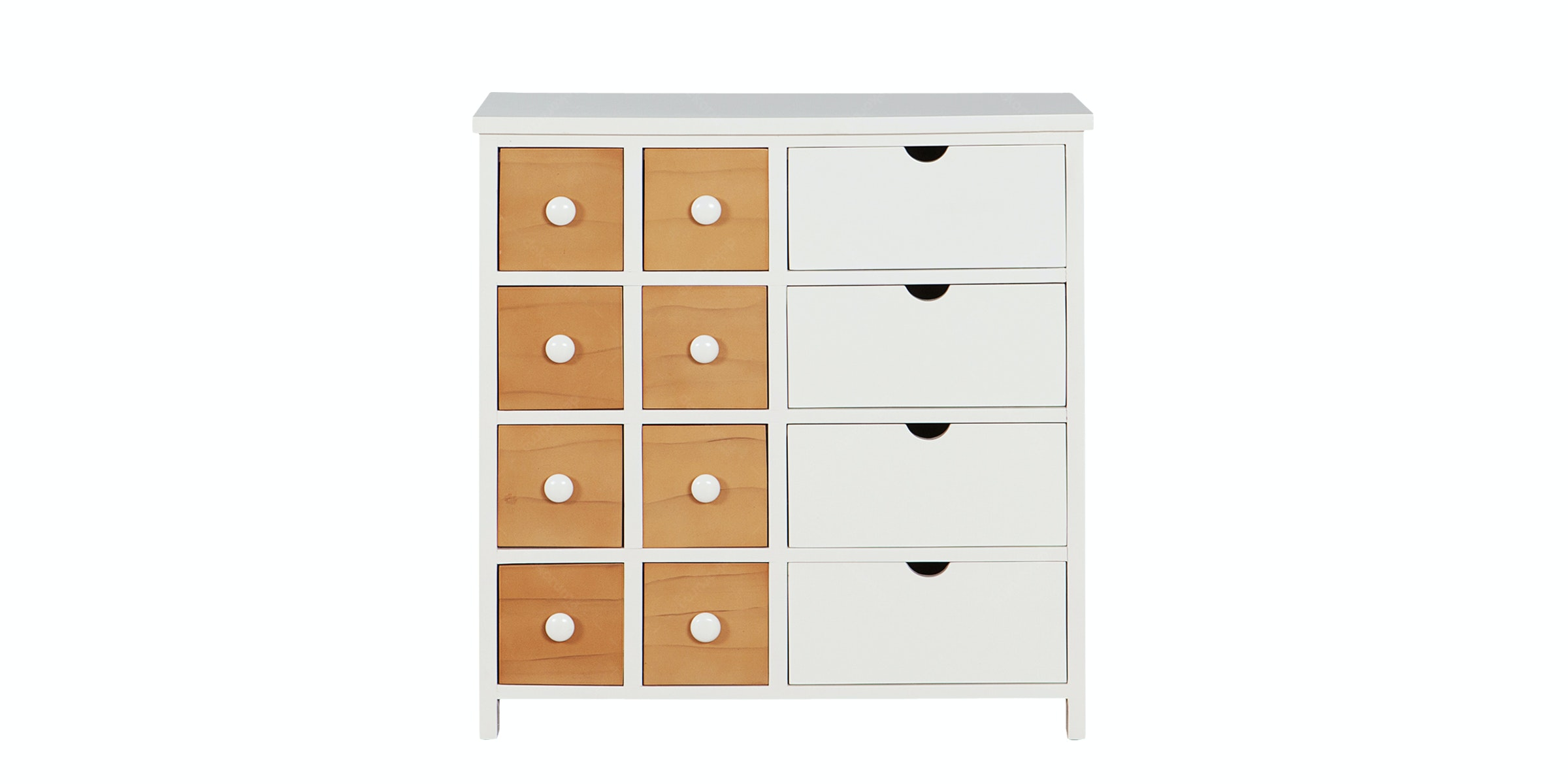 Olive House Hauteville 12 Drawer  White