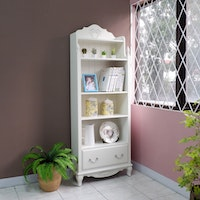 Olive House Rak Buku Serbaguna Queen Anne Bookcase