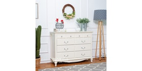 Olive House Queen Anne Cabinet Wide Drawer
