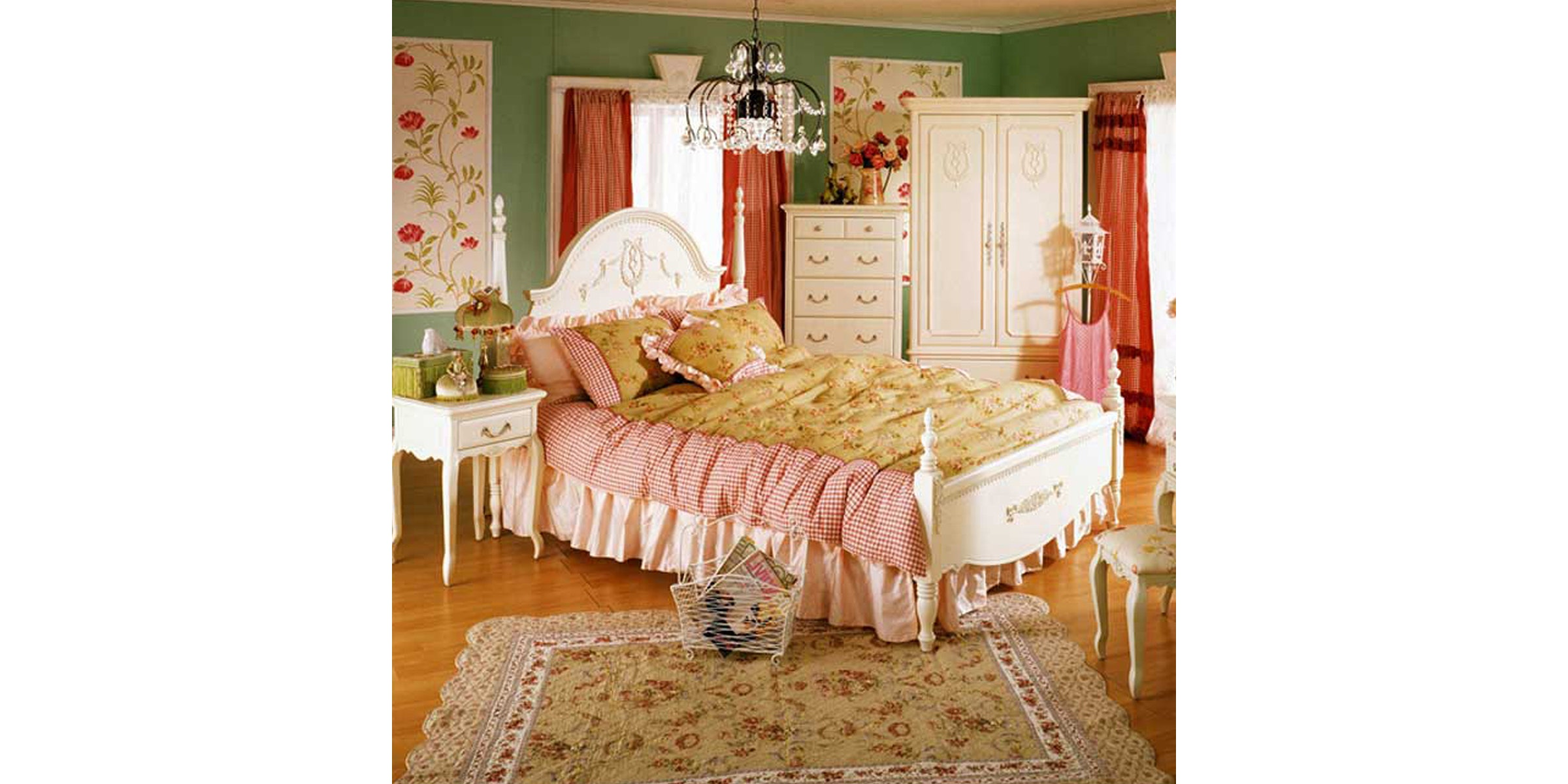Olive House Ranjang Tempat Tidur Queen Anne Bed 180