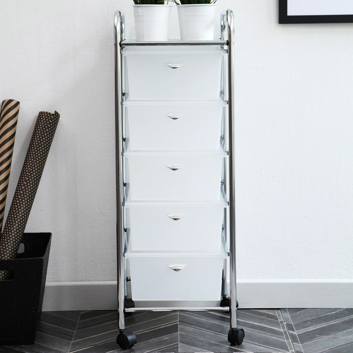 Olive House Moving Trolly 5D White
