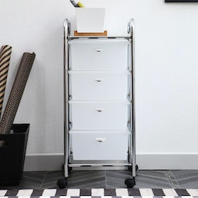 Olive House Moving Trolly 4D White