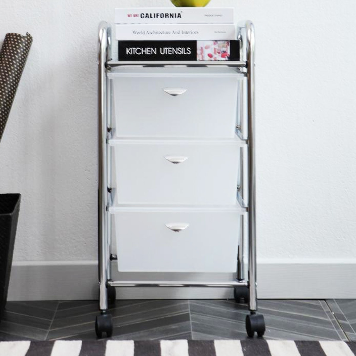 Olive House Moving Trolly 3D White