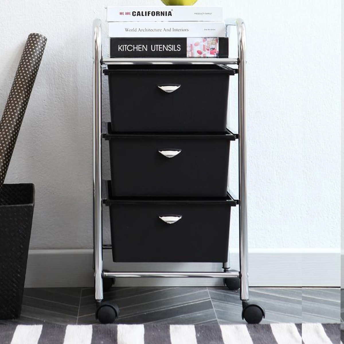 Olive House Moving Trolly 3D Black