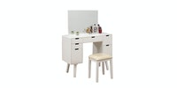 Olive House Meja Rias Hera 6 Drawers Console Set