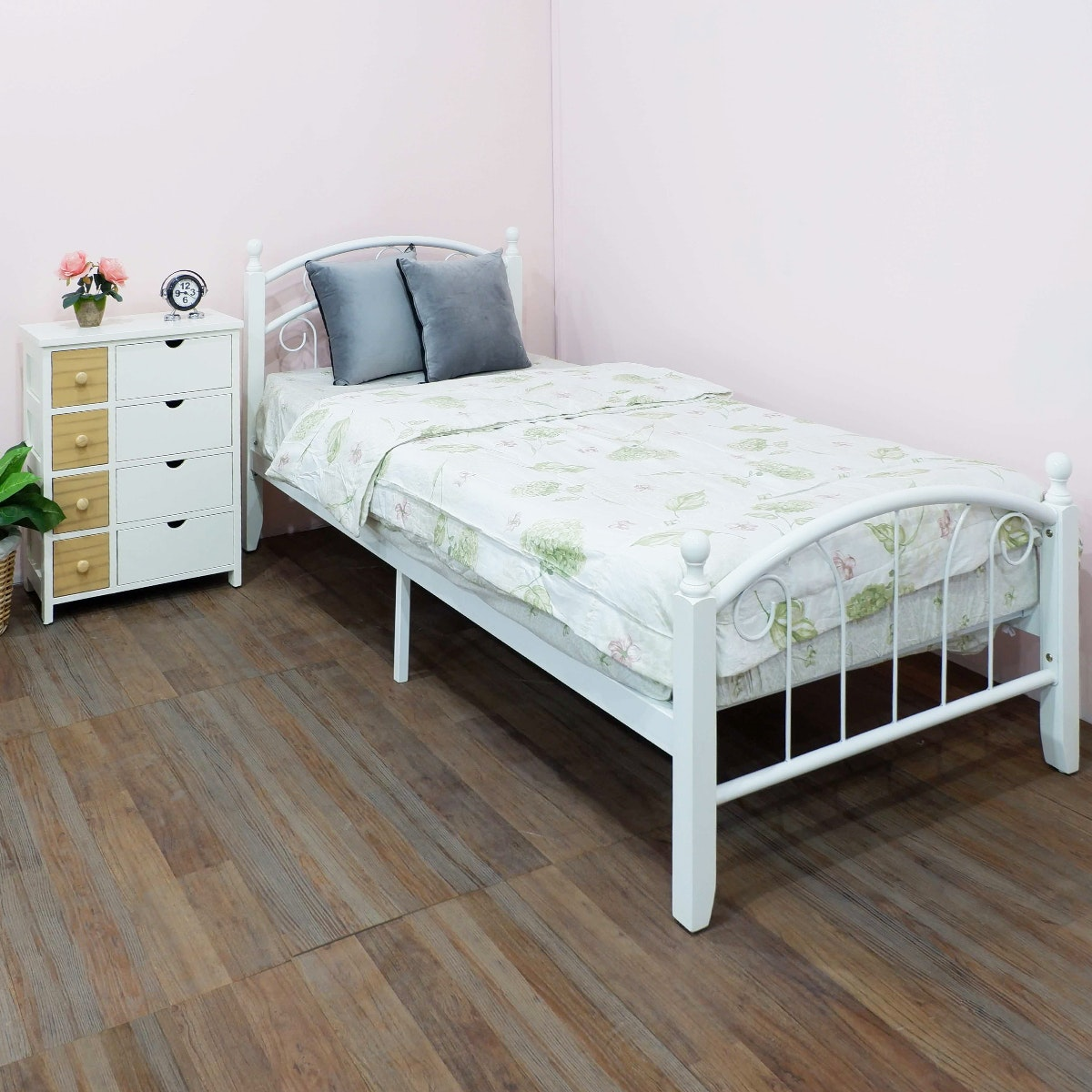 Olive House Ranjang Tempat Tidur Hamilton Single Bed - White