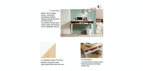 Olive House Meja Belajar Victory Smart Desk No Drawer