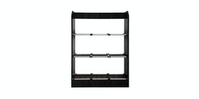 Olive House Rora Simple Shoes Rack 3T Black