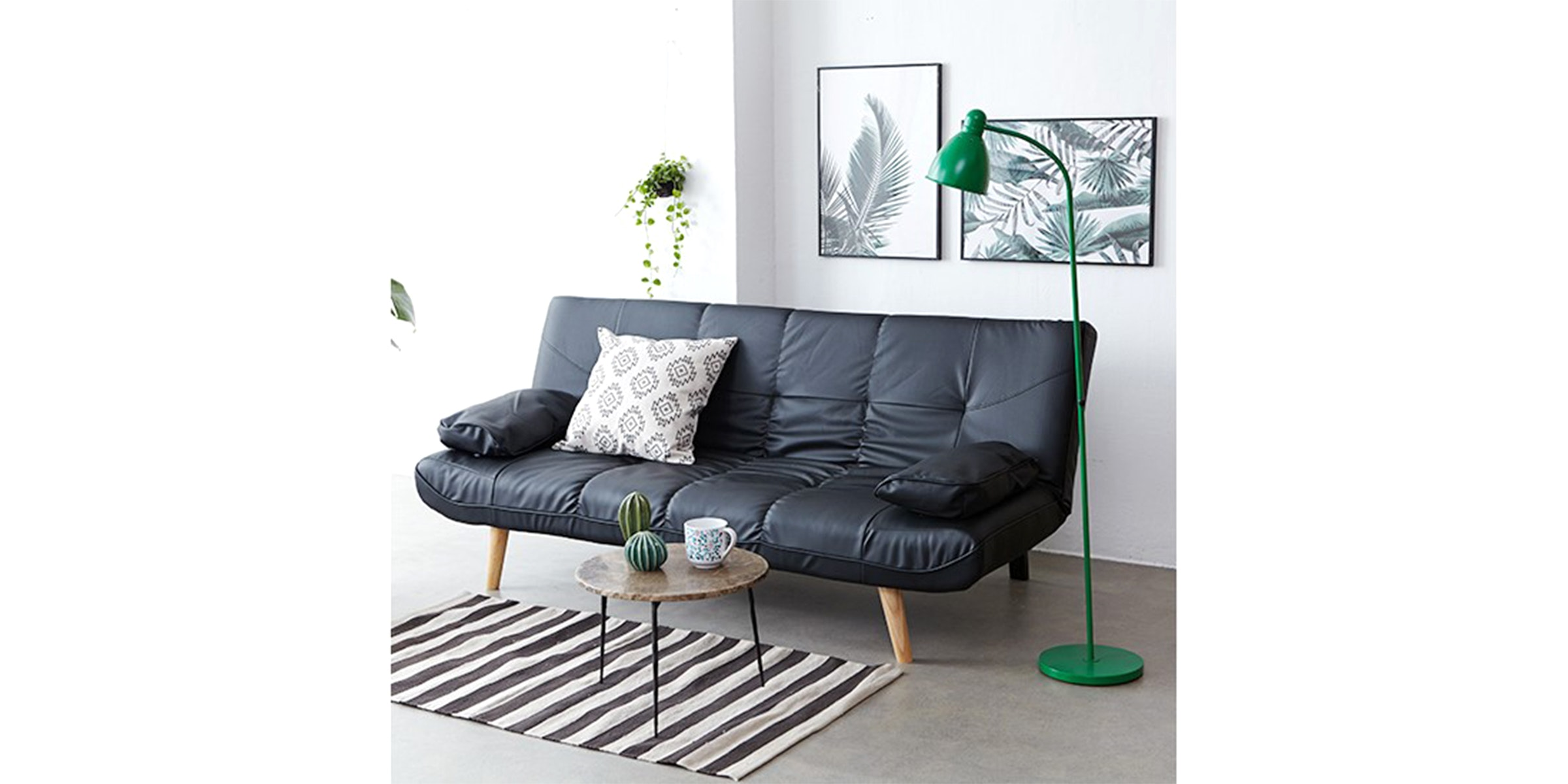 Olive House Sofa Bed Carnibal - Black