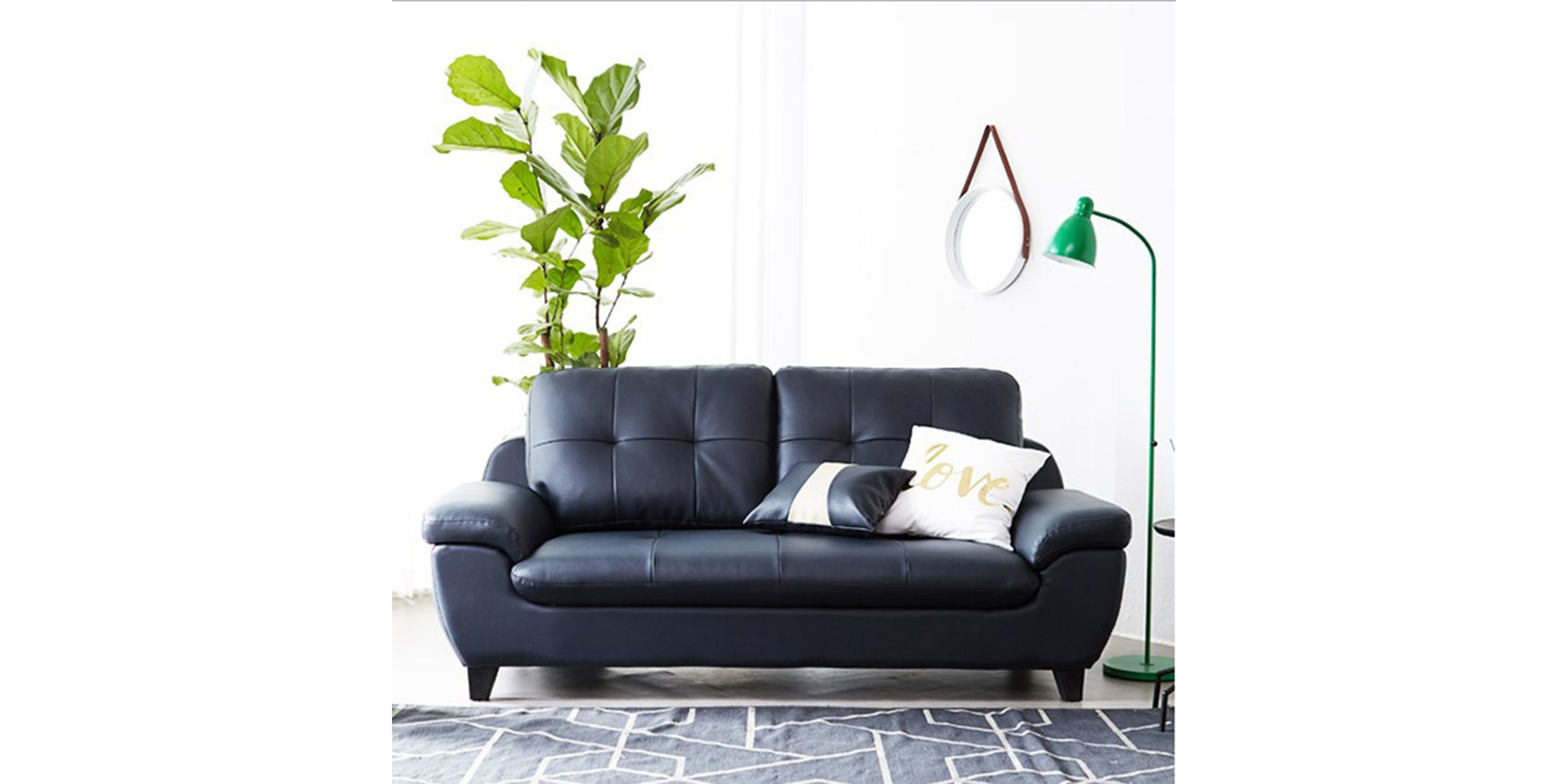 Olive House Sofa Mook 3 Seater 8008 - Navy