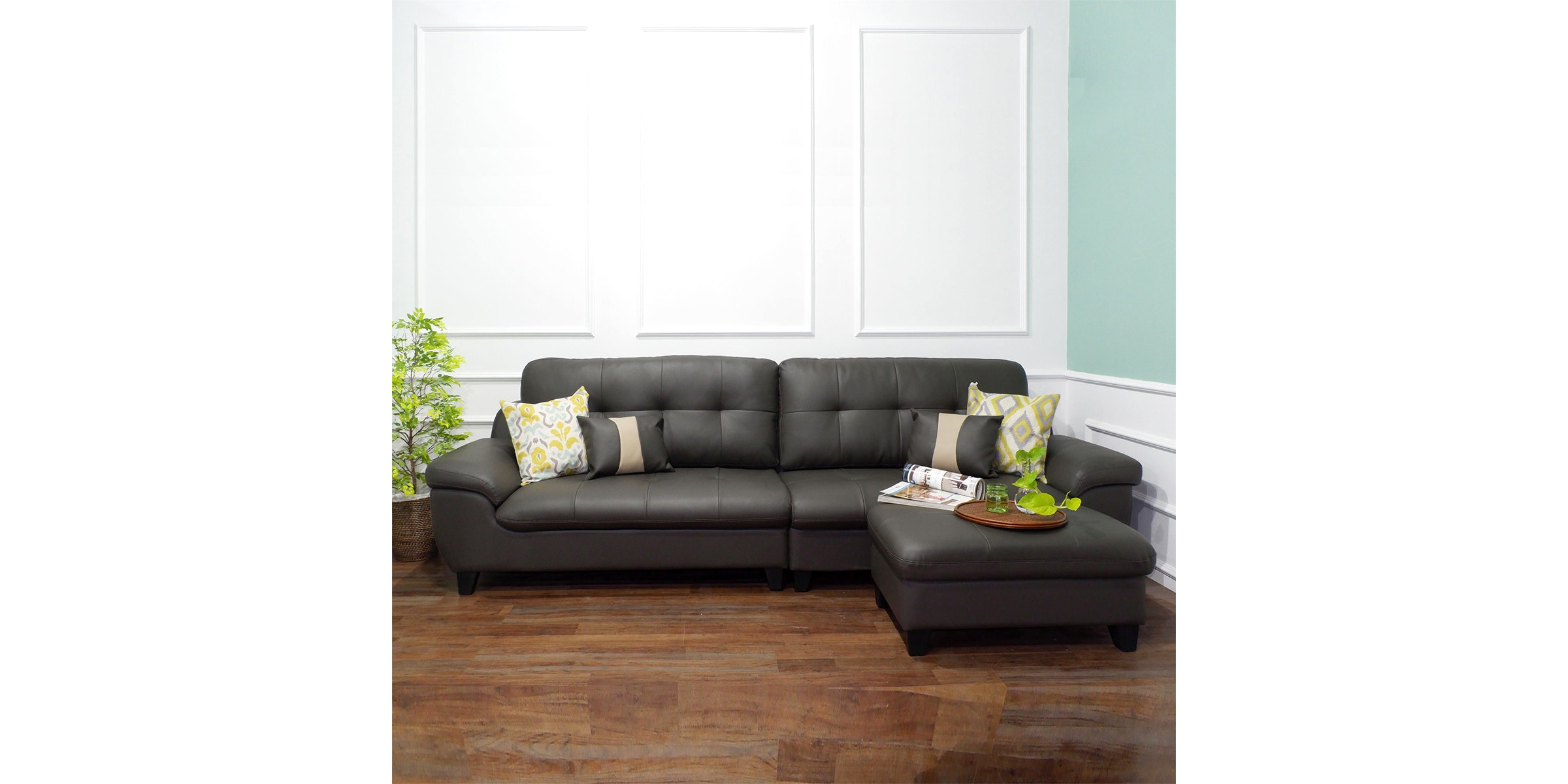 Olive House Sofa Set Mook  8008 - Grey