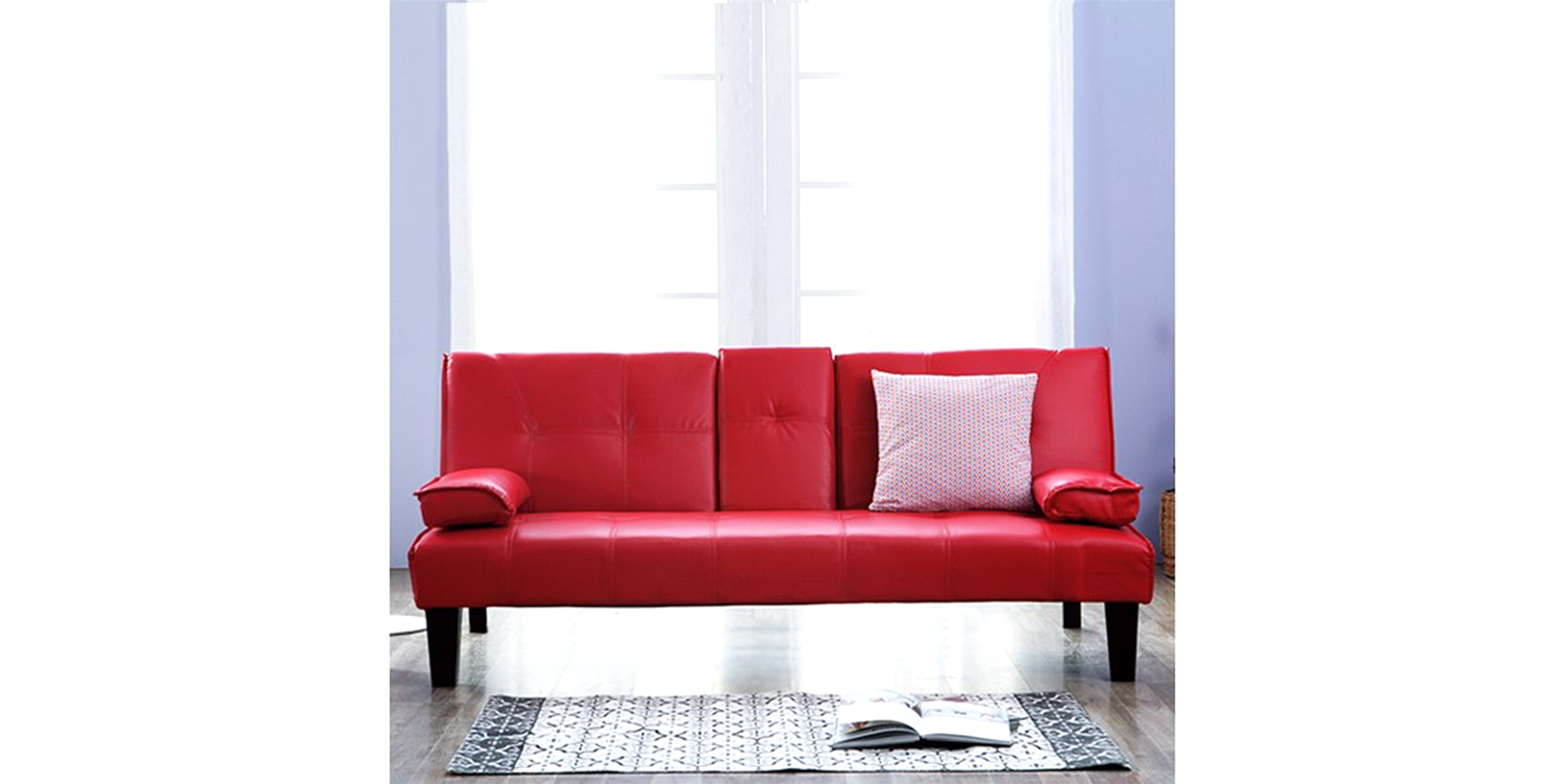 Olive House Sofa Bed Cappuccino - Red