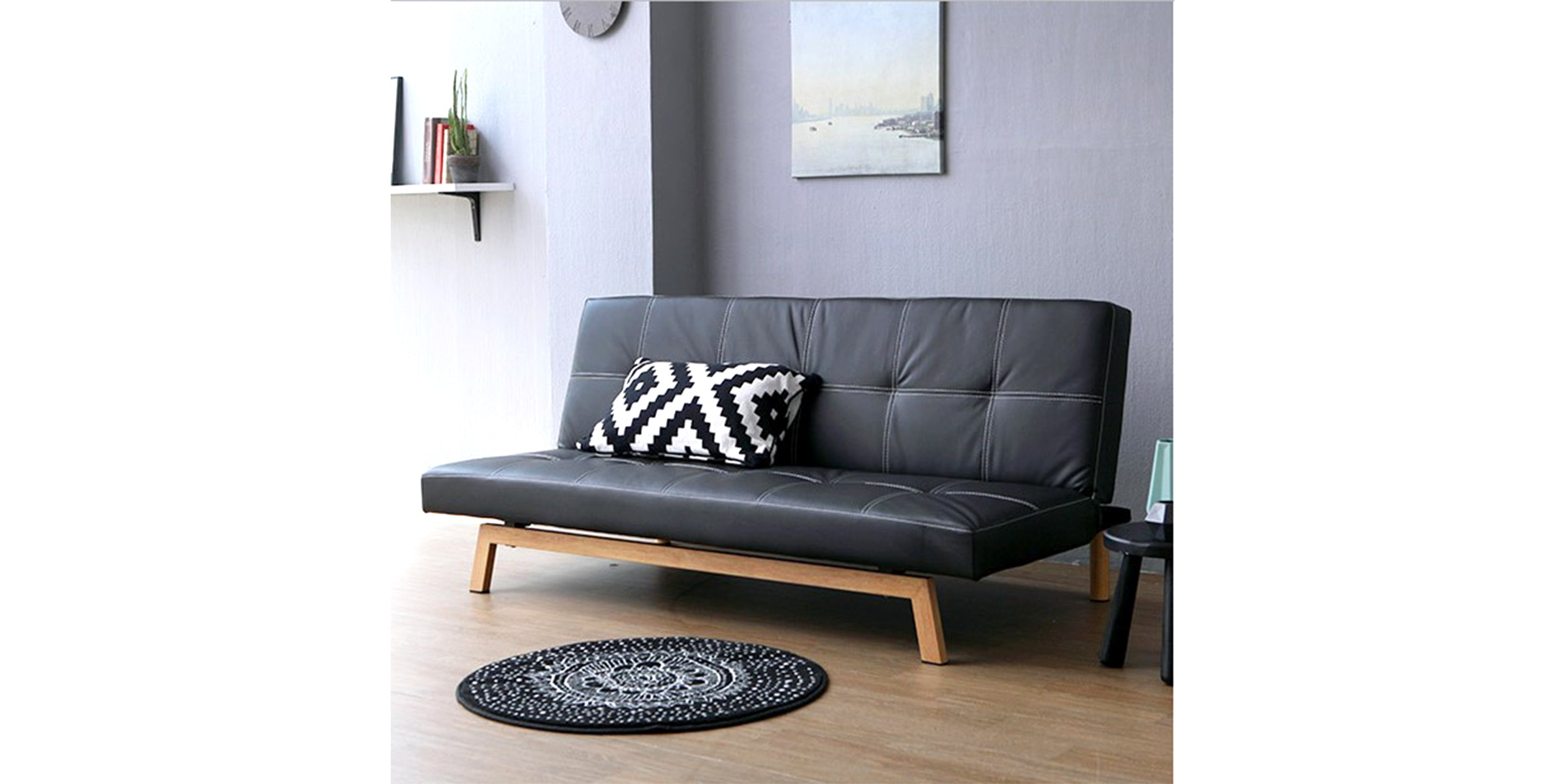 Olive House Sofa Bed Soi MLM-298153 - Black