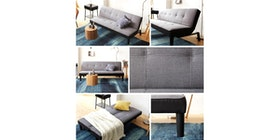 Olive House Sofa Bed Fabric Lotus - Grey