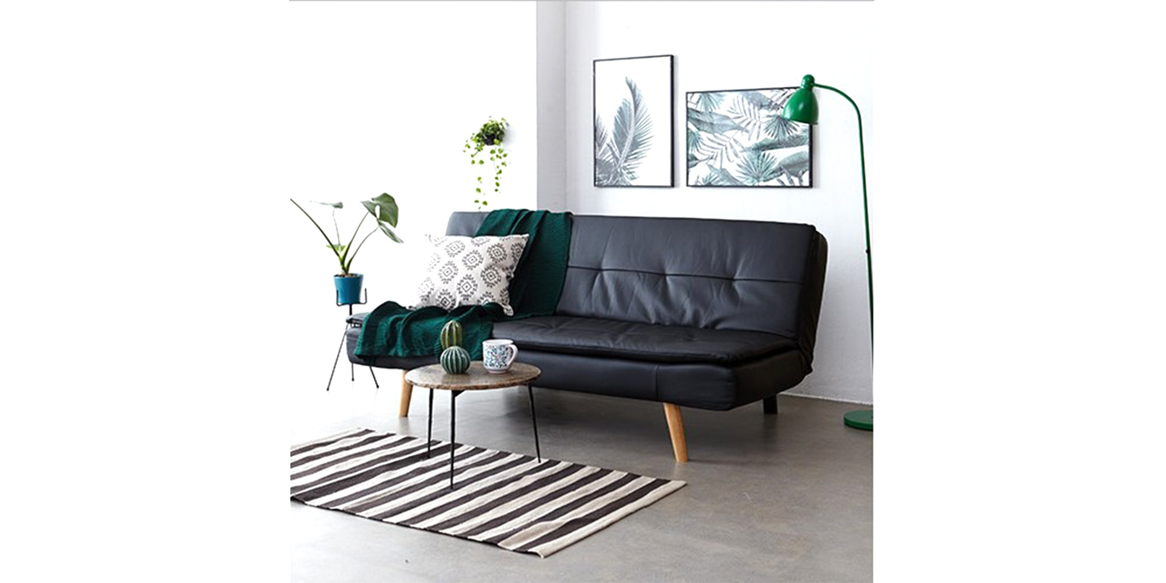 Olive House Sofa Bed Napoli - Black