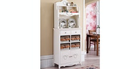 Olive House Rosemary 8D White Hutch