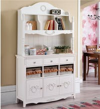 Olive House Rosemary 9D White Hutch