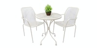Olive House Steel Rita Chair - Cream