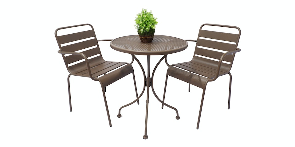 Olive House Steel Momo Chair - Brown
