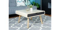 Olive House Helsinki Sofa Mini Table Drawer Grace Maple