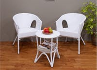 Olive House Fabio Rattan Synthetic Outdoor - White