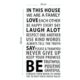 iwallyou Wall Sticker In This House (Family Rules)