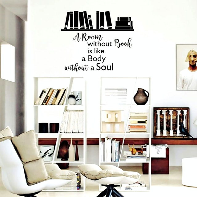 iwallyou Wall Sticker Wording Room Without Books