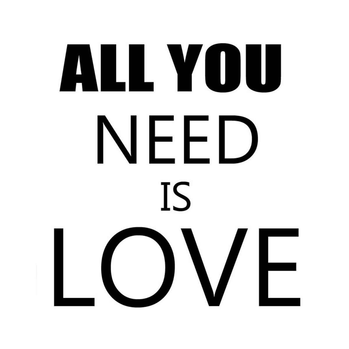 Iwallyou wall sticker wording all you need is love