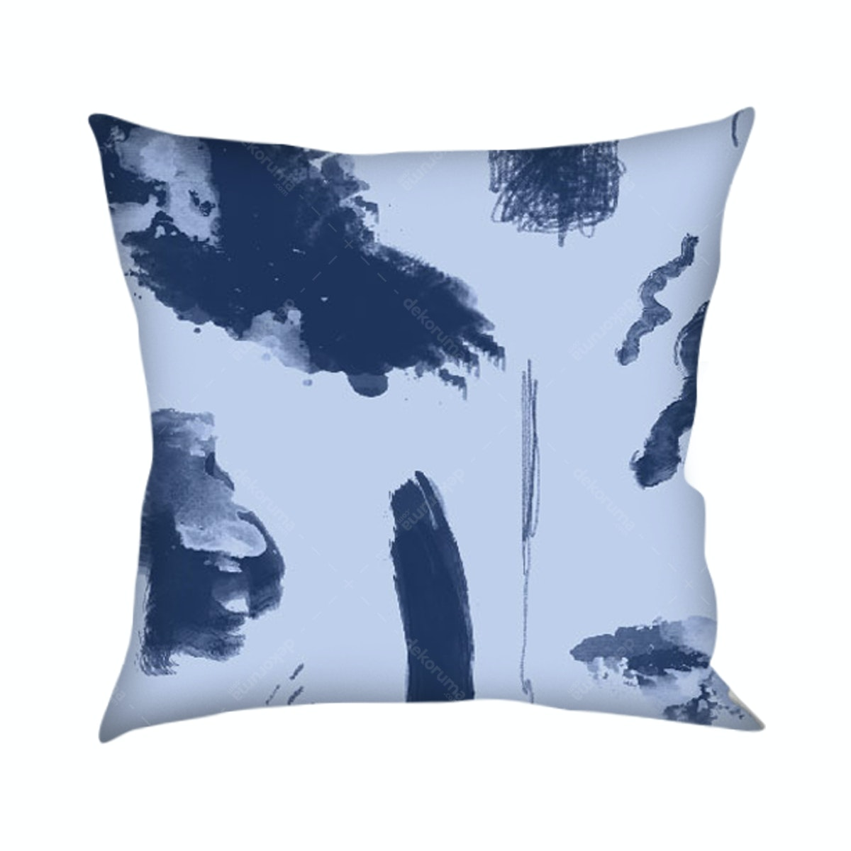 On&On Abstract Blue Cushion 40x40cm (Insert+Cover)