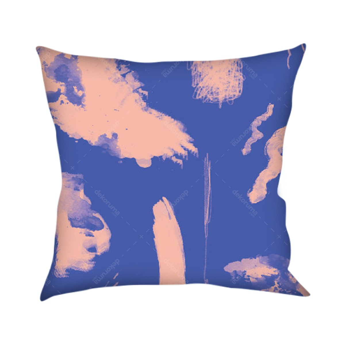 On&On Abstract Blue Pink Cushion 40x40cm (Insert+Cover)