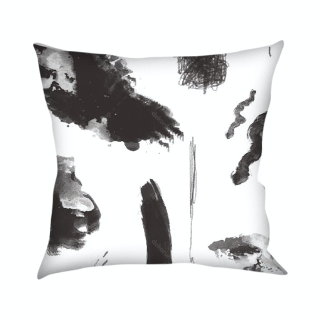 On&On Abstract Black & White Cushion 40x40cm (Insert+Cover)
