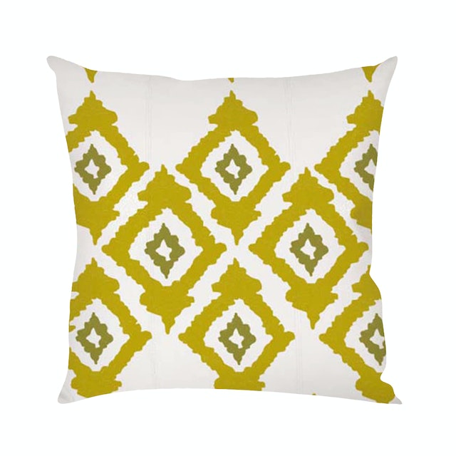On&On Greenie Ikat #5 Cushion 40x40cm (Insert+Cover)