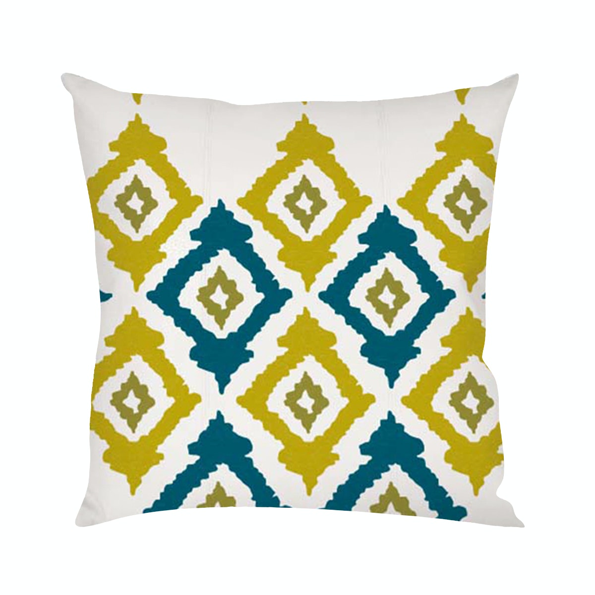 On&On Greenie Ikat #6 Cushion 40x40cm (Insert+Cover)