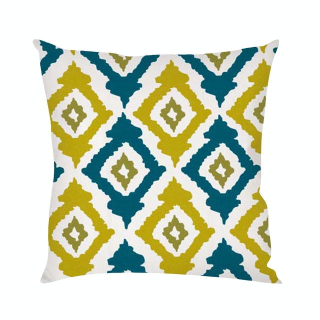 On&On Greenie Ikat #7 Cushion 40x40cm (Insert+Cover)