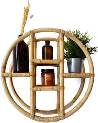 On&On Round Rattan Shelf