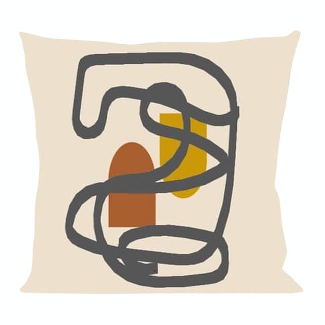On&On Line Abstract Cushion