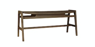 Onel Bench Bavone Dark Wood