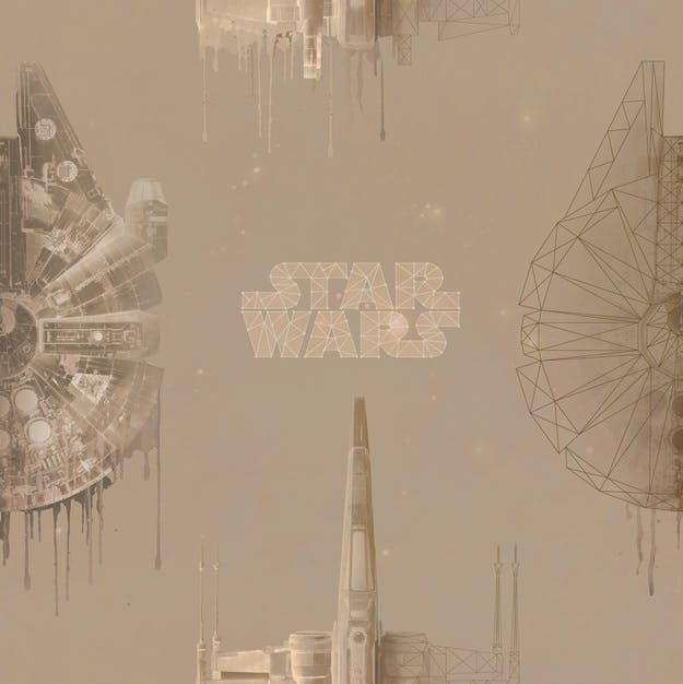 Onna Wallpaper Tembok Disney Star Wars STA1151