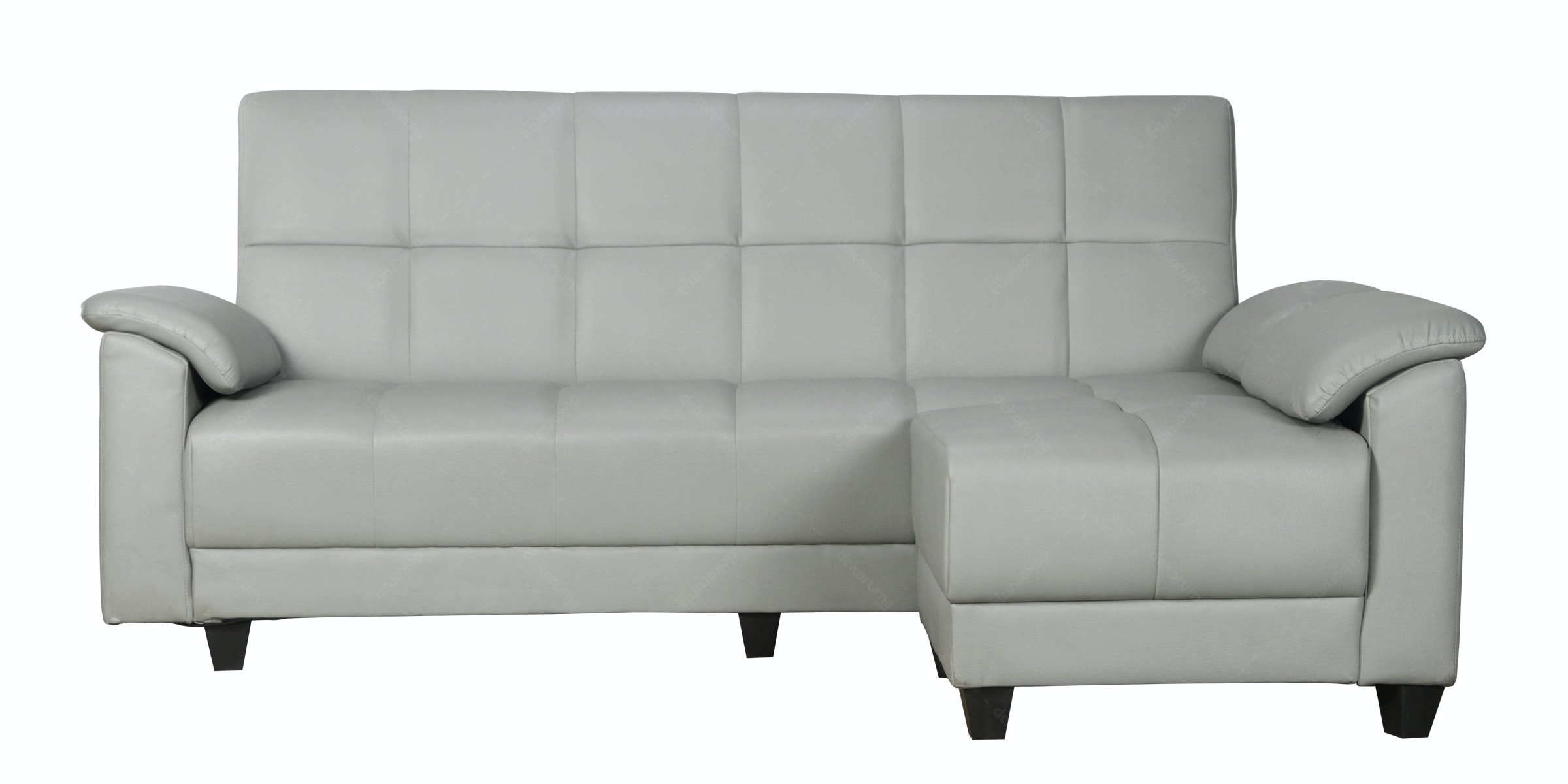 Ornela Sofa Bed New Bellagio Latex Dan Puff Abu-abu Muda