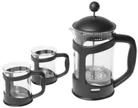 Bialetti Coffee Press 800ml Set (Black)