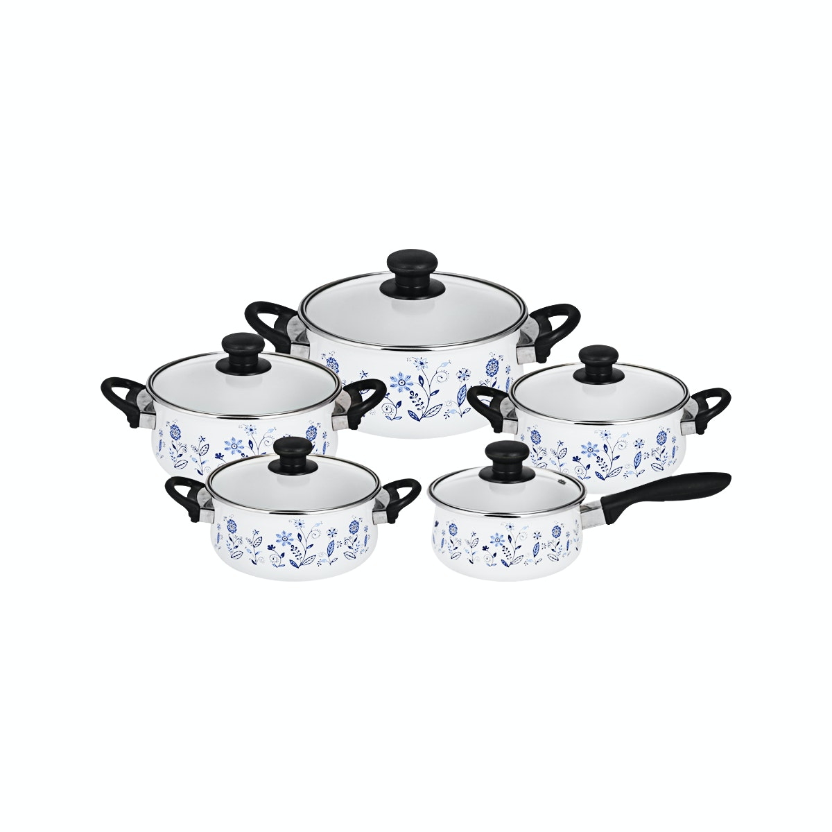 Ideal Panci Masak Tropicana Set 16/24 cm BLUE ROYAL HERITAGE