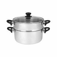 Master Chef Stainless Double Deker 24cm