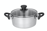 Master Chef Stainless Dutchoven 18cm Tutup Kaca