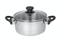 Master Chef Stainless Dutchoven 20cm Tutup Kaca