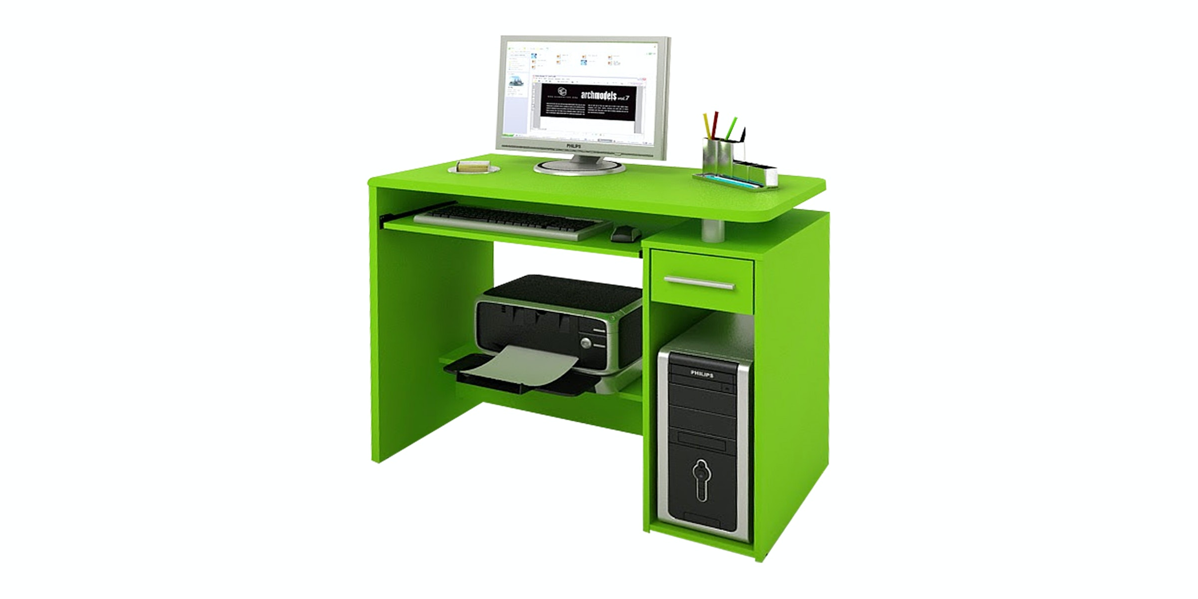 Pro Design Jude Meja Kerja - Apple Green