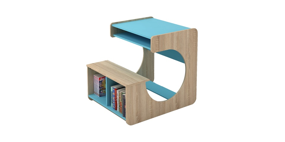 Pro Design Kido Meja Belajar Anak - Sonoma Oak - Light Blue