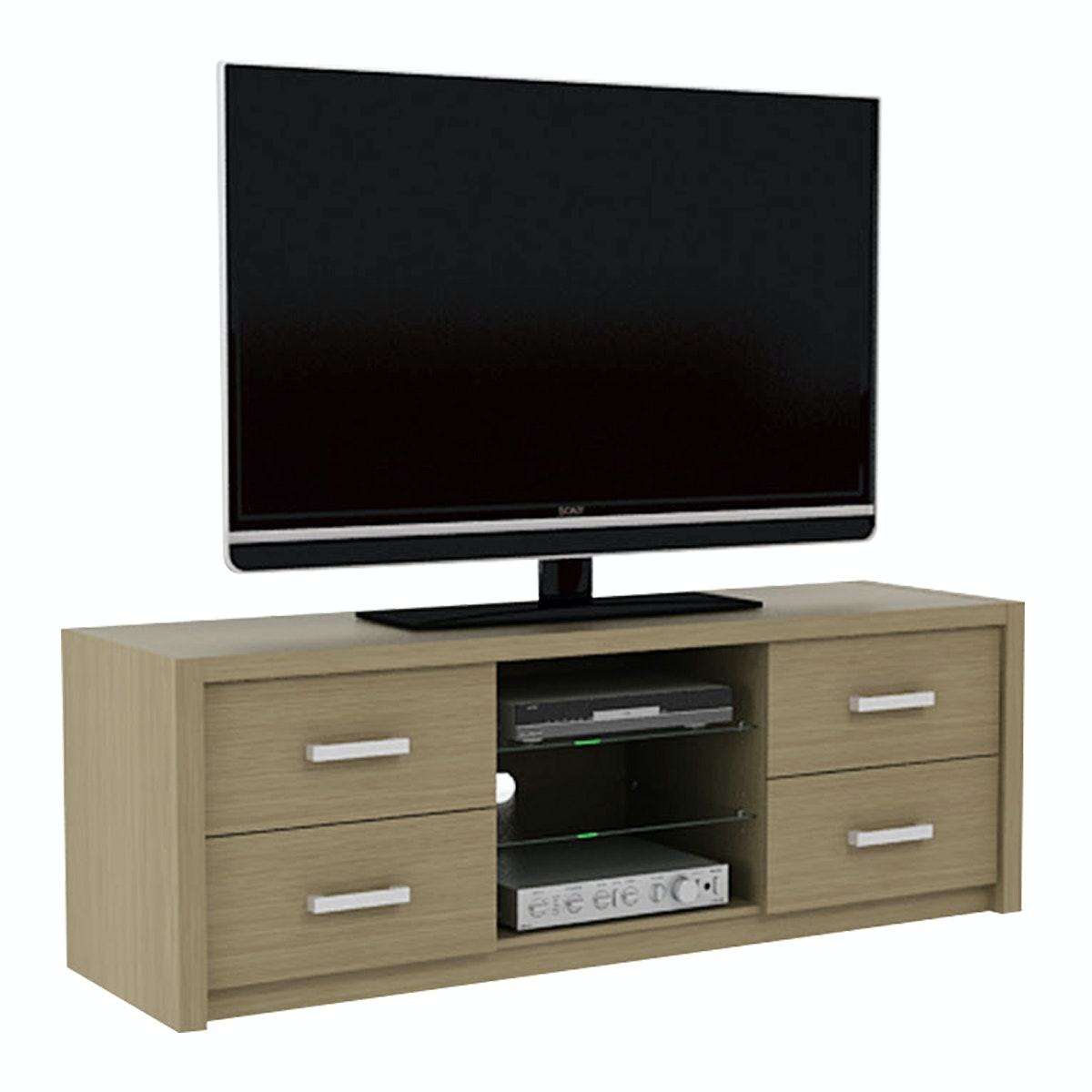 Pro Design Batavia Rak TV 2 Rak 4 Laci - Home Oak