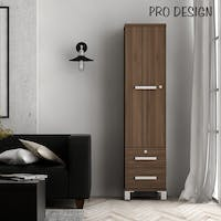 Pro Design Rsg Kabinet 1 Pintu 2 Laci - Brown Walnut