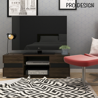 Pro Design Kenny Rak TV - Brown Walnut - Black